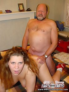 Lucky senior fucking young pussies from behind