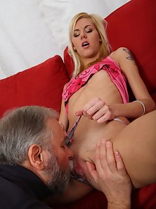 Hot Blonde Getting Fucked by her Boyfriend Lola and His Math Teacher
