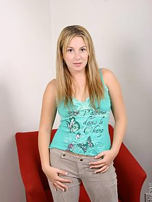 Innocent-Looking Blonde Seduces Her Partner after Shows Her Private Part