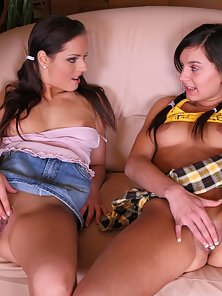 Super Tight Muff Driving Action in Threesome Lesbian Romance
