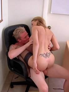 Sexy Lexie Slides with Big Tits Riding by a Huge Cock in Doggy Style Action