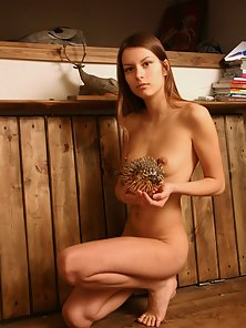 Naturally Beautiful Teen Shows off Her Sweet Pussy and Breasts in Different Actions