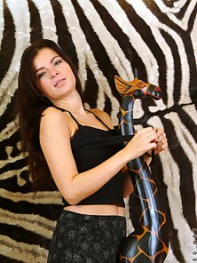 Zebra Background Made the Hot Naked Action Beautifu danical By the Slim Babe
