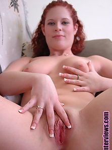 Red Head Babe Showing Her Tight Asshole and Making Her Cunts Wet