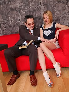 Mary and Her Naughty Old Teacher Pervy Making Hardcore In Room
