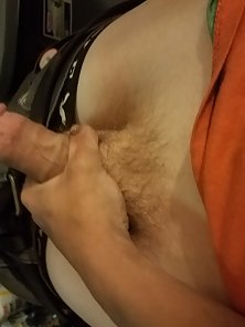 White horny dude wants his cock touched