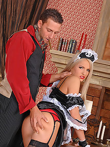 Fantastic housemaid Britney Spring poses with her lover