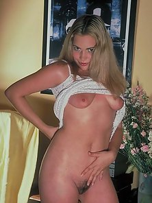 Blonde Hair Straightened Babe with Bubbly Boobs and Red Cunt Looks Girly