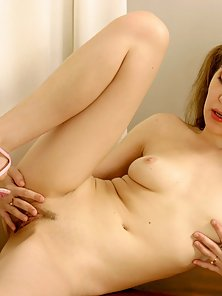 Gorgeous Pigtail School Girl with Fully Naked Showing Her Private Parts