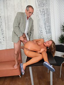 Aged Doctor Gives Drilling Action with Her Related Sexy Brown Head Chick