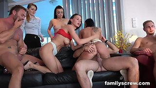 Fuck the family maids after some shopping