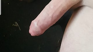 Me pulling my cock for cum