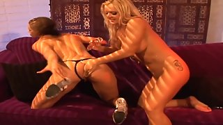 Blonde Lesbian Hottie and Friend Have Pussy Licking Action