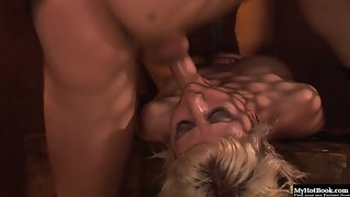 Blonde Bitch Jayme Janes Gets Deeply Slammed in Ring Piece