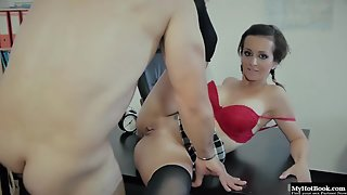 Naughty Professor Gives Hardcore Anal Fuck to Brunette Student