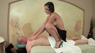 Skinny Brunette Masseuse Gives Nuru Massage and Awesome Head