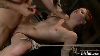 Pretty Little Teen Evilyn Fierce Moans Loudly When A Dominant Drills Her Pussy