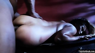 Ebony babe rammed hard by a bbc dick