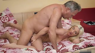 Blonde whore loves to fuck an experienced dick