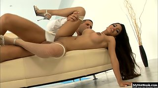 Hot Latina slut Zuleidy Lapiedra fucked deep in her ass