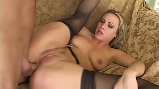 Blonde Hottie Getting her Tight Asshole Banged from Behind