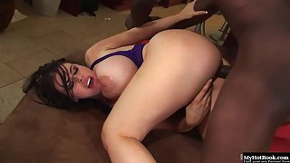 Damn pretty Daphne Rosen rammed by a stiff black dick