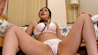 Brunette asian Keiko tries her first kinky sex