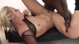 Tattooed Blonde Angel Long Having Interracial Sex by Big Dick