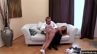 Hottest blonde Valentina Blue enjoying nice ass spanking with a dude. Big ass great for spanking