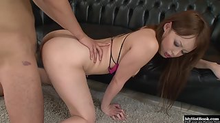 Dazzling Asian Gets Tickled in Wet Beaver by Dildo