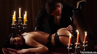 Hot Girl in Stockings Fucked By Her Partner