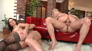 Nice Ass Babes Pounded Rough In Foursome Fuck