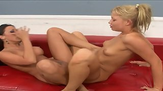 Amateur Blonde Beauty and her Lesbian Friend Loves Scissoring