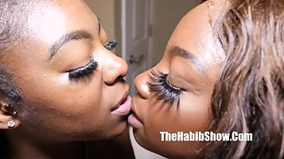 Ebony lesbian chicks love to pleasure each other