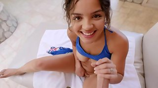 Latin teen loves to fuck hard in pov