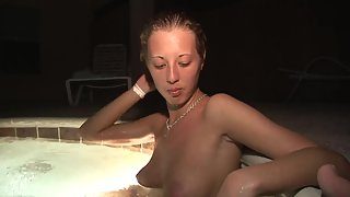 Amateur Teen Having Fun In a Hot Tub Naked