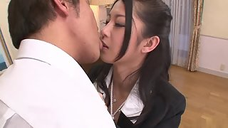 Horny Asian chick gets banged