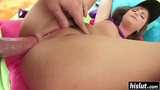 Stunning Babe Gets Her Tight Butt Banged by Hard Cock