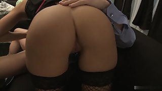 Busty Antonia in Fishnet Stockings Gets Hard Ripped in Hungry Twat