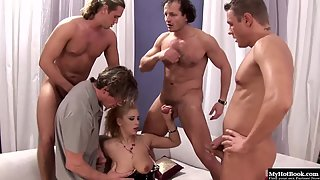 Busty Bitch Luba Love in Groupsex Gets Double Penetrated