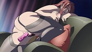 Busty curvy anime babe plays with toys and is finally fucked hard