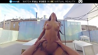 Magnificent latina Susy Gala intensively fucked outdoors until she squirts