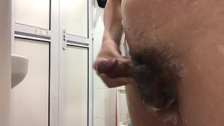 Jerking my dick off in the shower